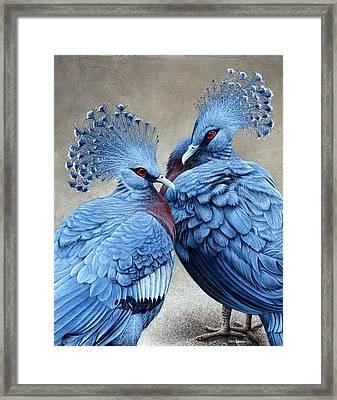 Crowned Victorians Framed Print by Cara Bevan
