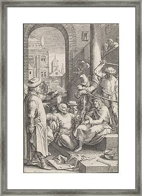 Crowning With Thorns, Ludovicus Siceram, Hendrick Goltzius Framed Print