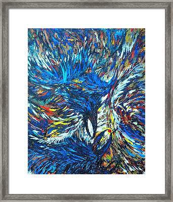 Framed Print featuring the painting Crows by Charles Munn