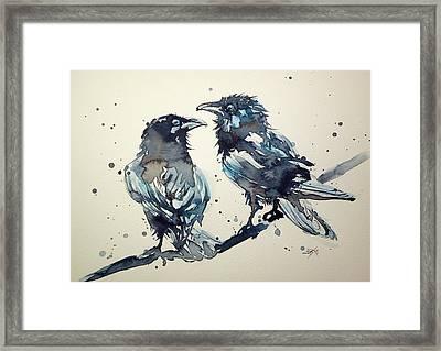 Crows Framed Print by Kovacs Anna Brigitta