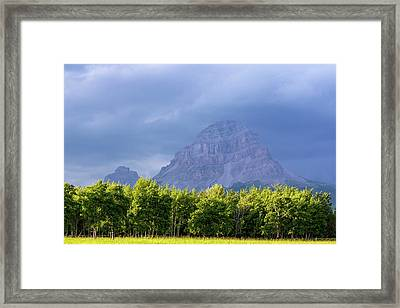 Crowsnest Mountain At Crownest Pass Framed Print by Chuck Haney