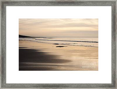 Croyde At Dusk Framed Print by Anne Gilbert