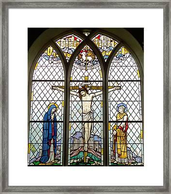 Crucified Framed Print by Ann Horn