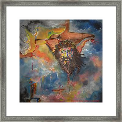 crucified with Christ Framed Print by Ricardo Colon