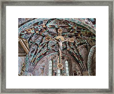 Crucifix Harkeberga Church Framed Print by Leif Sohlman