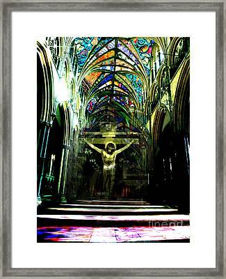 Crucifix Reflexions Framed Print by Karine Percheron-Daniels