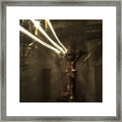 Crucifixion Framed Print by Alexandre Russevitch