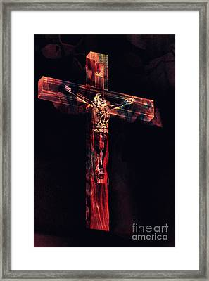 Crucifixion Framed Print by Davy Cheng