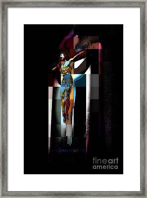Framed Print featuring the photograph Crucifixion by Jodie Marie Anne Richardson Traugott          aka jm-ART
