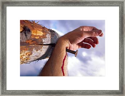 Crucifixion Framed Print by Ladi  Kirn