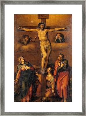Crucifixion Framed Print by Michelangelo Buonarroti