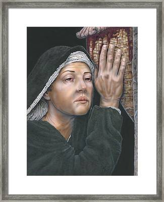 Crucifixion- Mothers Pain Framed Print