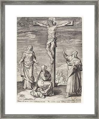 Crucifixion Of Christ, Anonymous, Frans Van Den Wijngaerde Framed Print