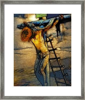 Crucifixion - Stained Glass Framed Print