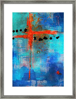 Cruciform Abstract Framed Print by Nancy Merkle