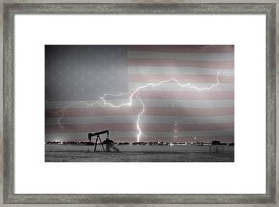 Crude Oil And Natural Gas Striking Across America Bwsc Hdr Framed Print by James BO  Insogna