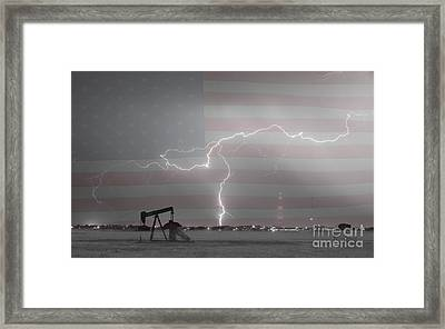 Crude Oil And Natural Gas Striking Across America Bwsc Framed Print by James BO  Insogna