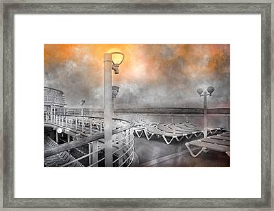 Cruise Boat Lamps Framed Print by Betsy Knapp