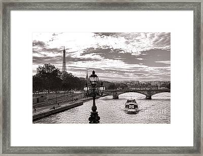 Cruise On The Seine Framed Print by Olivier Le Queinec