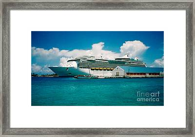 Framed Print featuring the painting Cruise Ship Art by Ecinja Art Works
