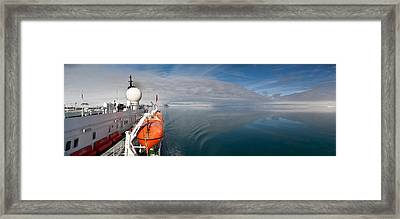 Cruise Ship, Ms Expedition, Hinlopen Framed Print