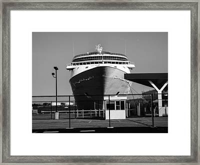 Cruise Ship Still Life Framed Print by Bob Orsillo