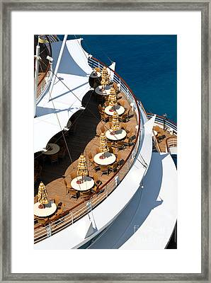 Cruise Ship Symmetry Framed Print by Amy Cicconi