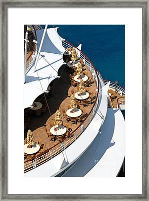Cruise Ship Symmetry Framed Print