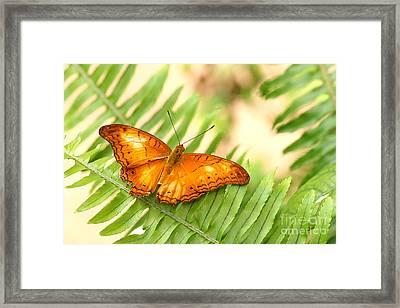 Cruiser In Orange Framed Print