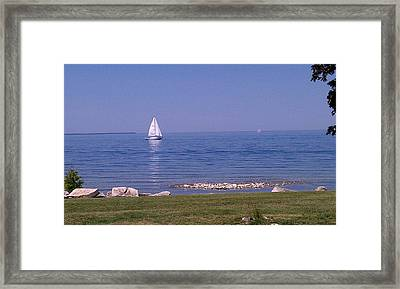 cruisin down the Bay on a Sunday afternoon Framed Print by Dawn Koepp