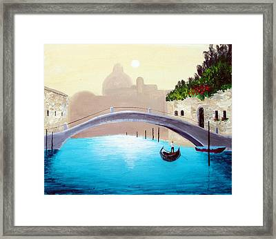 Framed Print featuring the painting Cruisin Venice by Larry Cirigliano