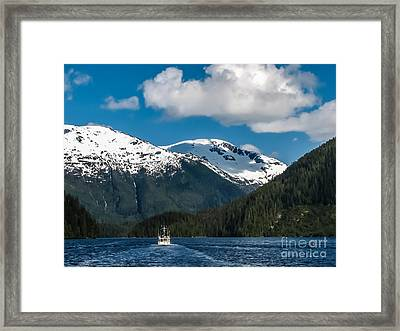 Cruising Alaska Framed Print by Robert Bales