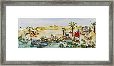 Cruising Along The Nile Framed Print