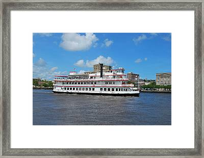 Framed Print featuring the photograph Steamboat  by Bob Sample