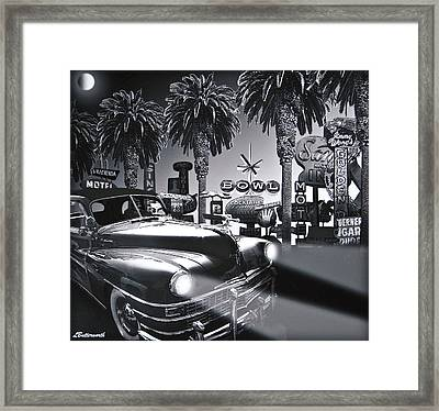 Cruising In The Garden Of Earthly Delights Framed Print by Larry Butterworth