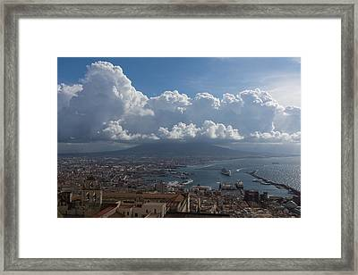 Cruising Into The Port Of Naples Italy Framed Print