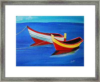 Cruising On A Bright Sunny Day Framed Print