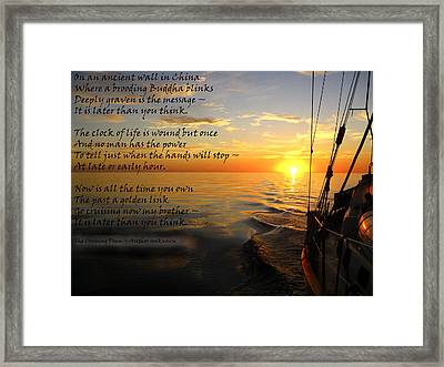 Cruising Poem Framed Print