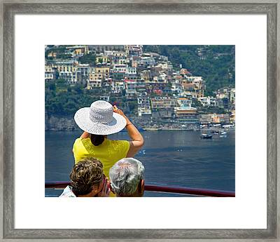 Cruising The Amalfi Coast Framed Print