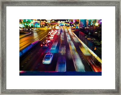 Cruising The Strip Framed Print