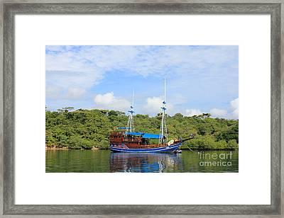 Cruising Yacht Framed Print by Sergey Lukashin