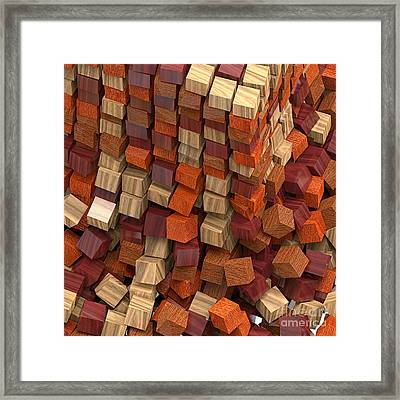 Crumble Tower Of Wood Framed Print