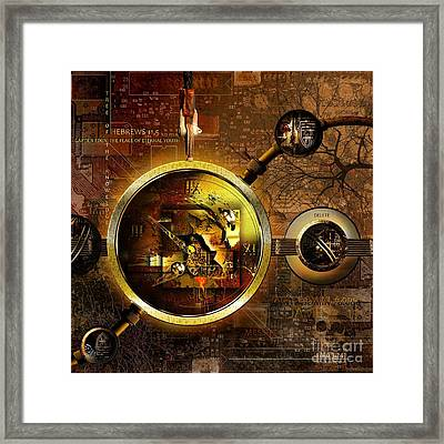 Crumbling Authority Of The Truth Framed Print