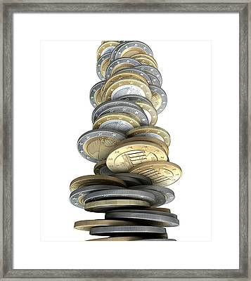 Crumbling Coins Framed Print by Allan Swart