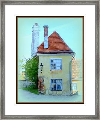 Crumbling Corner Framed Print by David Kovac