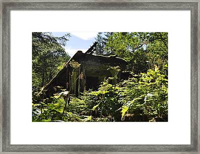 Framed Print featuring the photograph Crumbling Down by Cathy Mahnke