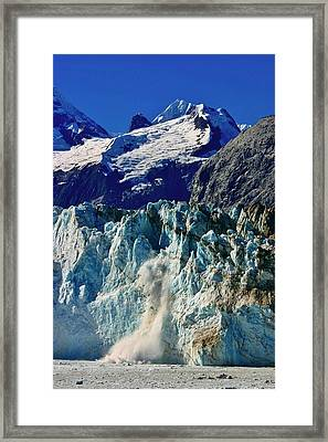 Framed Print featuring the photograph Crumbling Glacier by Henry Kowalski