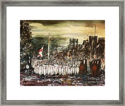 Crusade Framed Print by Kaye Miller-Dewing