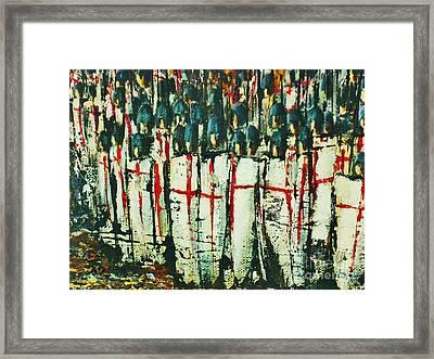 Crusade Shields 4. Framed Print