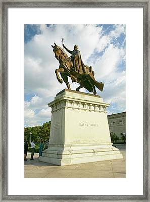 Crusader King Louis Ix Statue In Front Framed Print